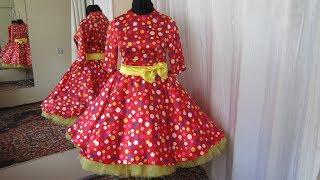 Обзор Платья в Горох в стиле Ретро 52 размера! Много фатина - Максимально пышно  и Красиво!