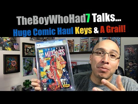 Huge Comic Haul Keys & 1 Holy Grail! Let's Talk CGC, White Pages, 9.8's, Marvel & DC Comics