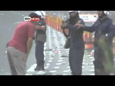 Video  Bahrain Protests  Saudi, UAE, Kuwait Troops Sent To Gulf Kingdom Amid Shia led Unrest   World News   Sky News