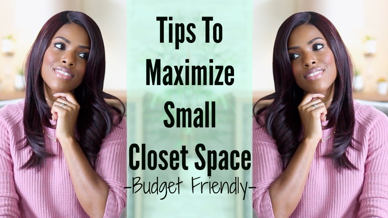 Glam home maximize small closet space on a budget youtube for Maximize small closet