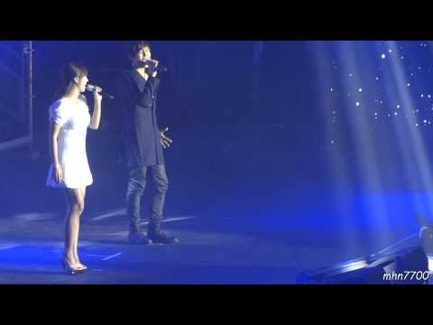 [HD fancam] 120208 Soohyeon + Hyorin - Love Always Finds A Reason @ Music Bank Paris