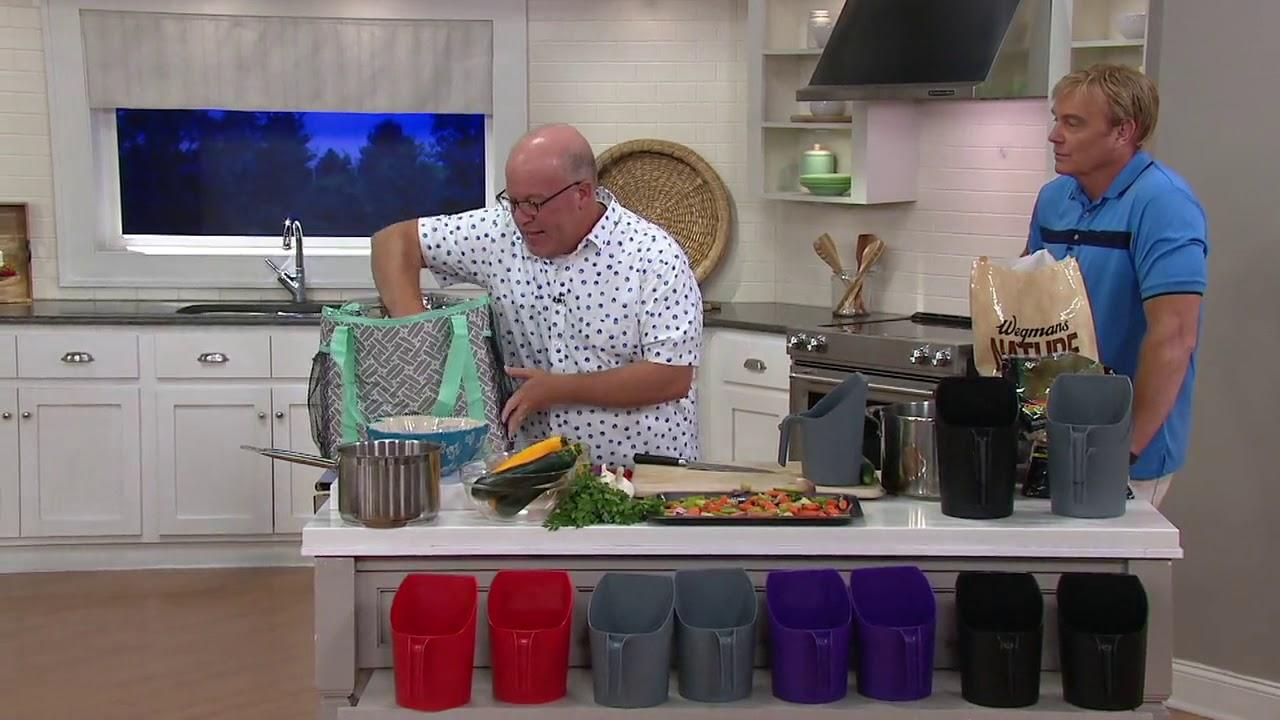 Set Of 2 2 Qt Kitchen Scrap Prepping Scoops On Qvc