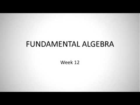 SEU: MATH-001: Fundamentals of Math [week12]
