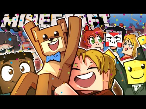 WHAT?!?!.... TEDDY BEAR THREW A PARTY FOR ME ON MINECRAFT? - Ep. 31!