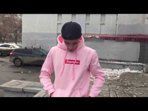 Распаковка и обзор розового худи Supreme с Aliexpress за 25$