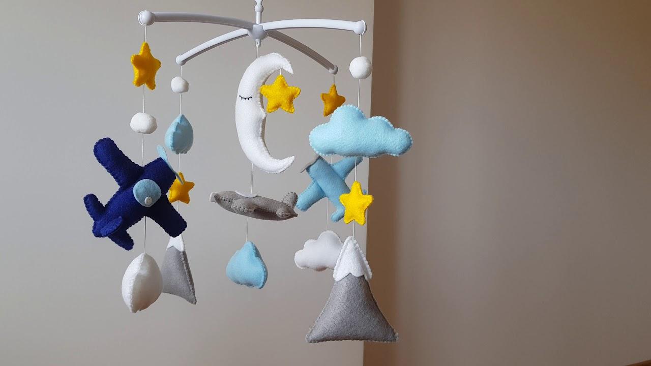 832bbb4889ee9 Handmade Crib Mobile for Baby Boy - YouTube