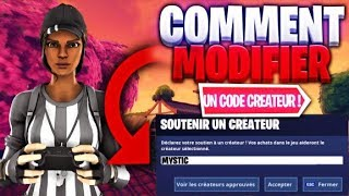 TUTO: HOW to MODIFIER his CODE CREATEUR FORTNITE? / Fortnite Battle Royale TUTO EN