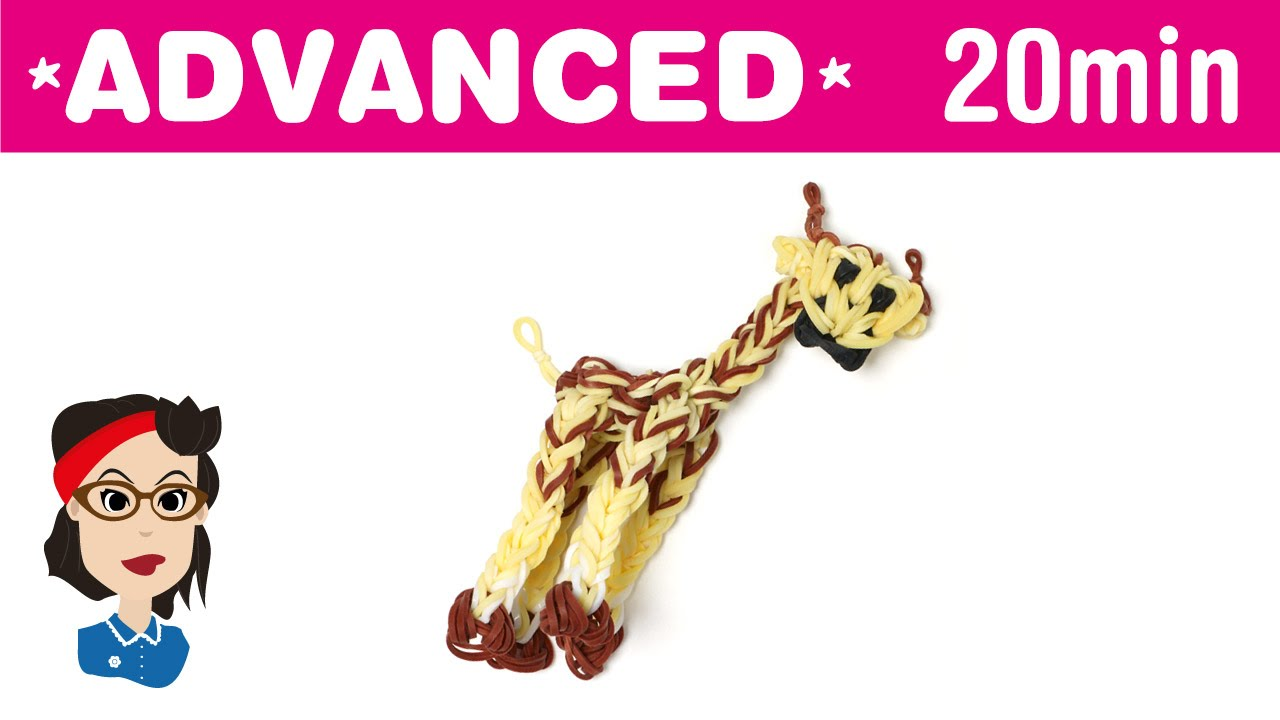 How to make a Giraffe Loom Band Charm