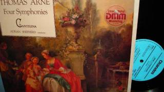 Thomas ARNE: The FOUR SYMPHONIES CANTILENA