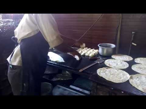 "How to make Chapati ""Roti"" - Indian Bread , Zamzam Cafe Pune HD"