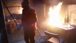 Démonstration feu et détecteur de fumée au SDIS31
