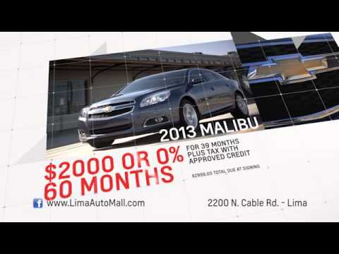 "Lima Auto Mall Commercial- ""Chevy Buy or Lease June 2013"""