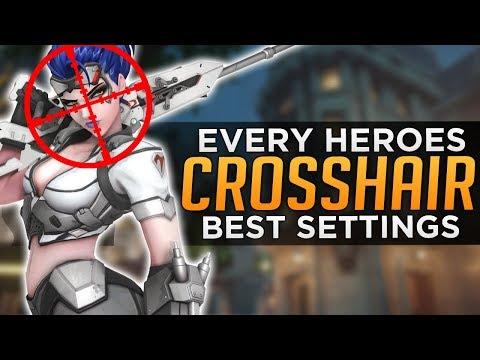 Overwatch: BEST CROSSHAIR Settings for EVERY HERO