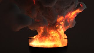 Blender 2.71 Cycles Smoke and Fire Demos #2