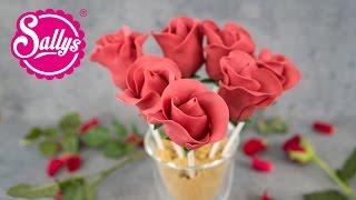 Rosen-Cakepops zum Muttertag / Rezept & Anleitung für essbare Rosen