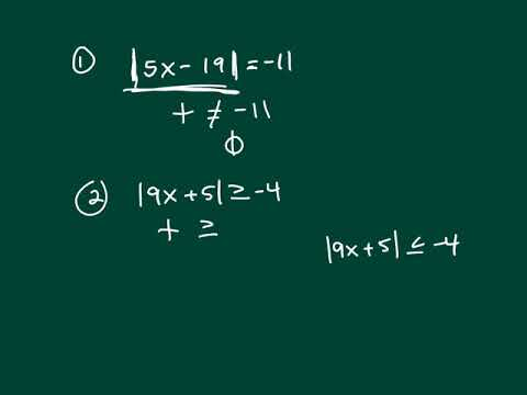 Absolute Values