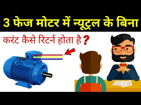 Where is the return path in 3 phase motor? - electrical interview question