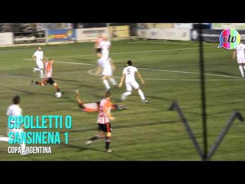 Cipolletti 0 - 1 Sansinena: gol de Brian Scalco