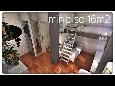 Minipiso 16 M2 172ft2 Blanco Y Juvenil 4x4 Youtube