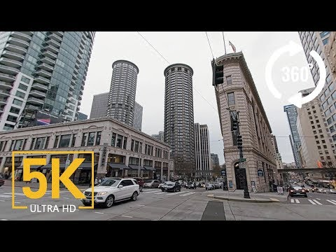 Seattle 5K 360° VR Video - Seattle City North Downtown. Part #2