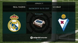 Calentamiento Real Madrid vs SD Eibar