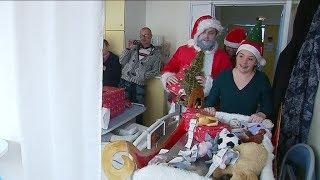 Rouen : La visite du Père Noël au CHU de Rouen