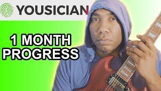 Yousician Guitar Progress One Month Later Beginner
