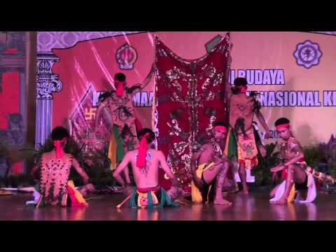 Dayak Tribal Dance Performance, Hindu Art & Culture Festival, Yogyakarta, Indonesia 2012