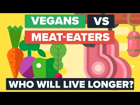 VEGANS vs MEAT EATERS - Who Will Live Longer? Food / Diet Co