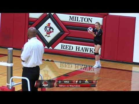 Milton Volleyball vs. Waunakee 2017