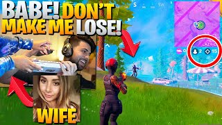 My Wife TOOK OVER My Stream! She WON a Game! (Fortnite Battle Royale)