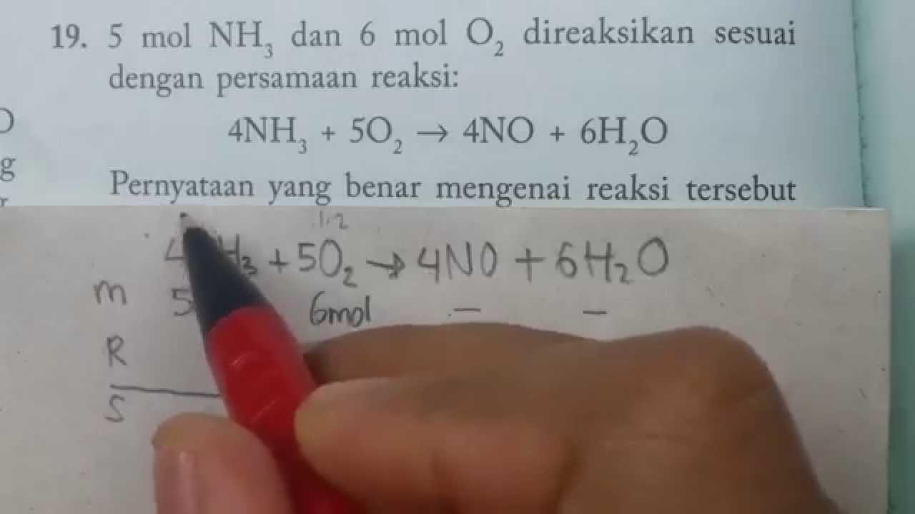 Kimia Mol Pada Pereaksi Pembatas Contoh Soal Youtube