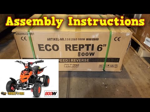 Electric Quad 800W 36V - Unboxing - Full Assembly - Instruct
