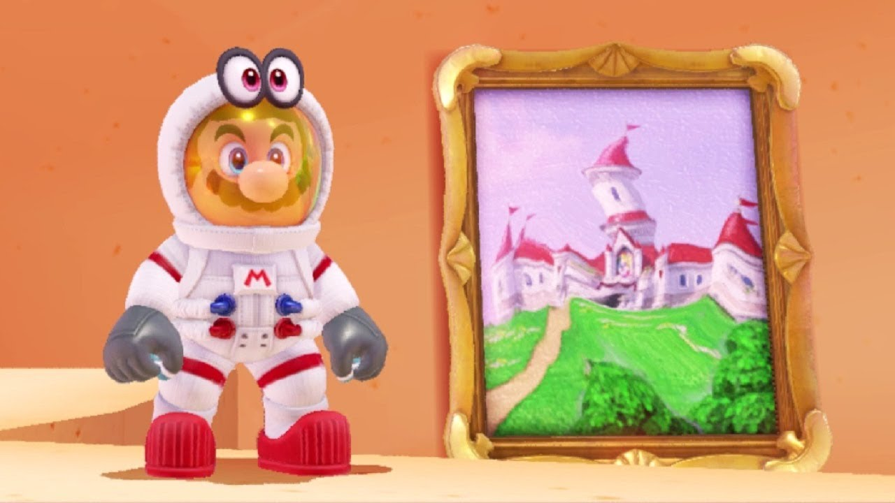 Super mario odyssey all secret warp paintings youtube for Super mario odyssey paintings