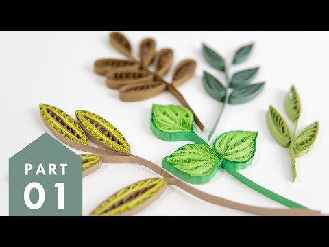 10 Paper Quilling Leaves-Part 1 | Art & Craft Tutorials by HandiWorks