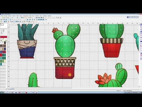 Схема вышивка кактусы