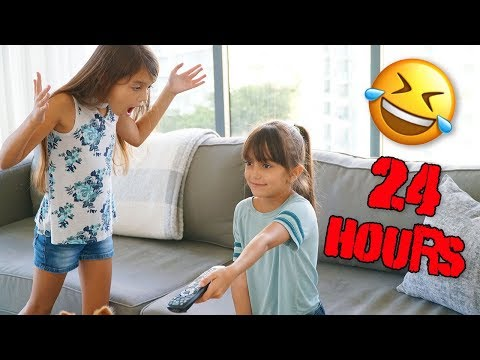 IGNORING MY SISTER AND PARENTS FOR 24 HOURS!   Emily and Evelyn