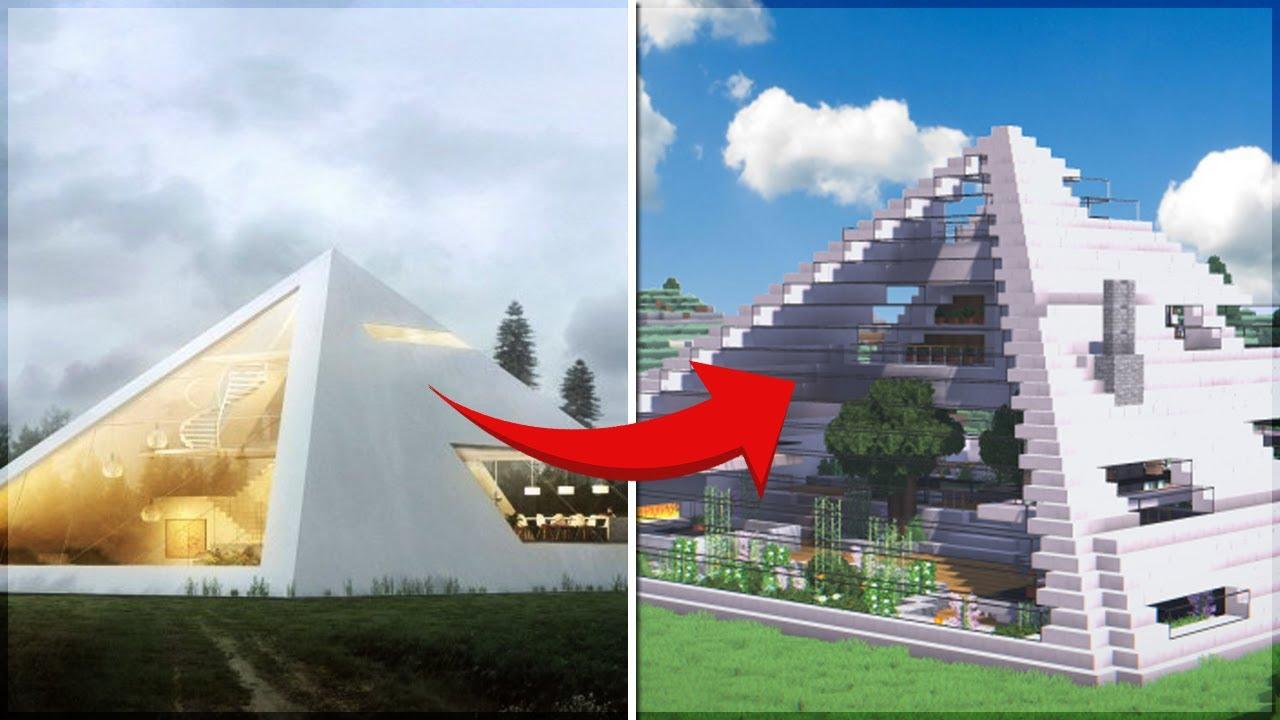 Essa casa futur stica foi recriada no minecraft e ficou for Casas modernas futuristas
