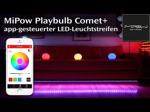 MiPow Playbulb Comet+ - Smart-Home LED-Leuchtstreifen Mit App-Steuerung