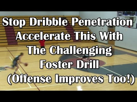 The Foster Drill - Learn how to stop dribble penetration (Offense improves too!)