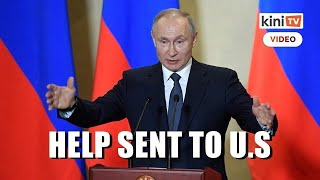 Russian military plane sends aid to US