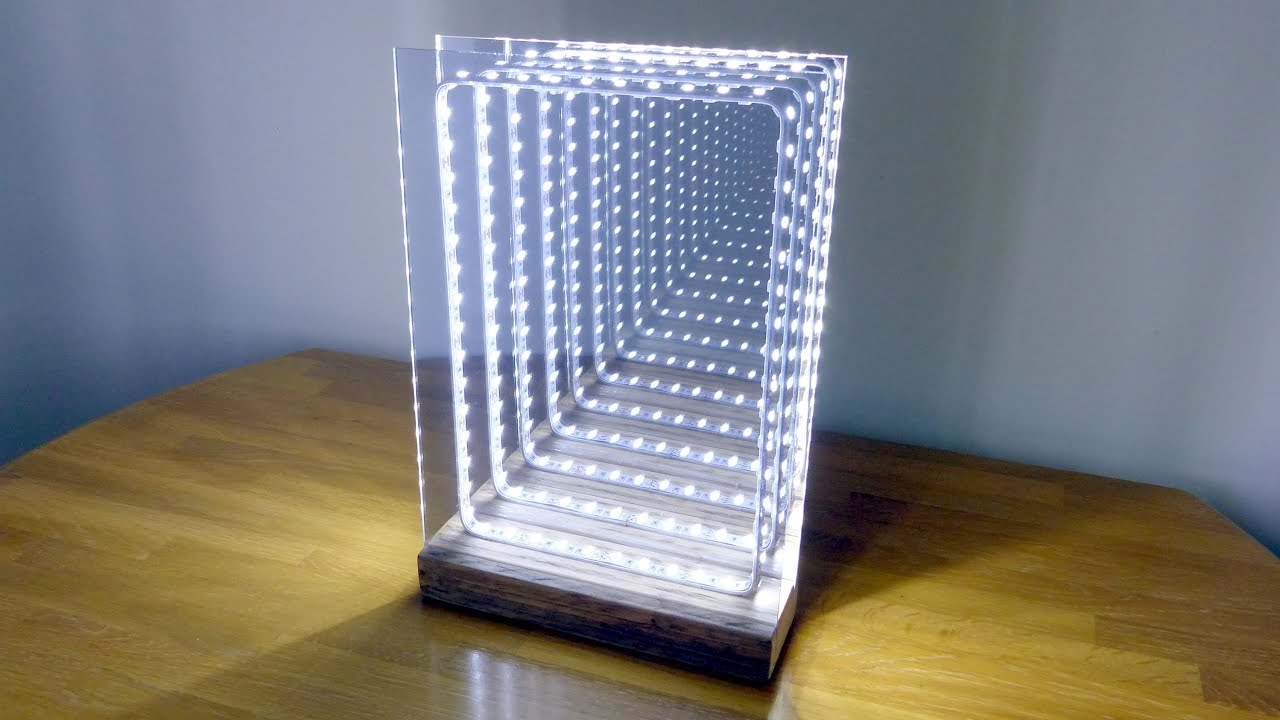 How To Make A Modern Led Infinity Illusion Mirror Youtube