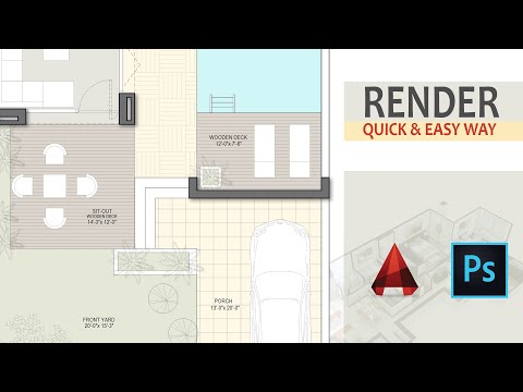 Architecture floor plan render in photoshop | Part 1|