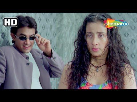 Best Comedy Scenes From Mann (1999) (HD) Aamir Khan   Manisha Koirala   Neeraj Vora  - Romantic Film