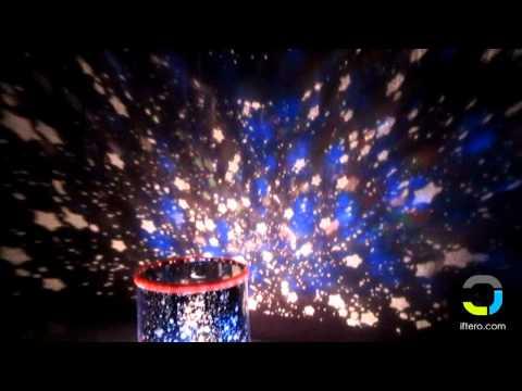 Ночник проектор звездного неба Star Beauty в действии