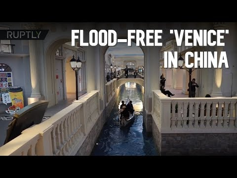 Flood-free 'Venice' in Chinese shopping mall