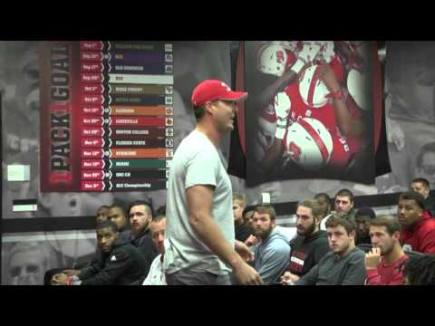 Philip Rivers talks with NC State Football