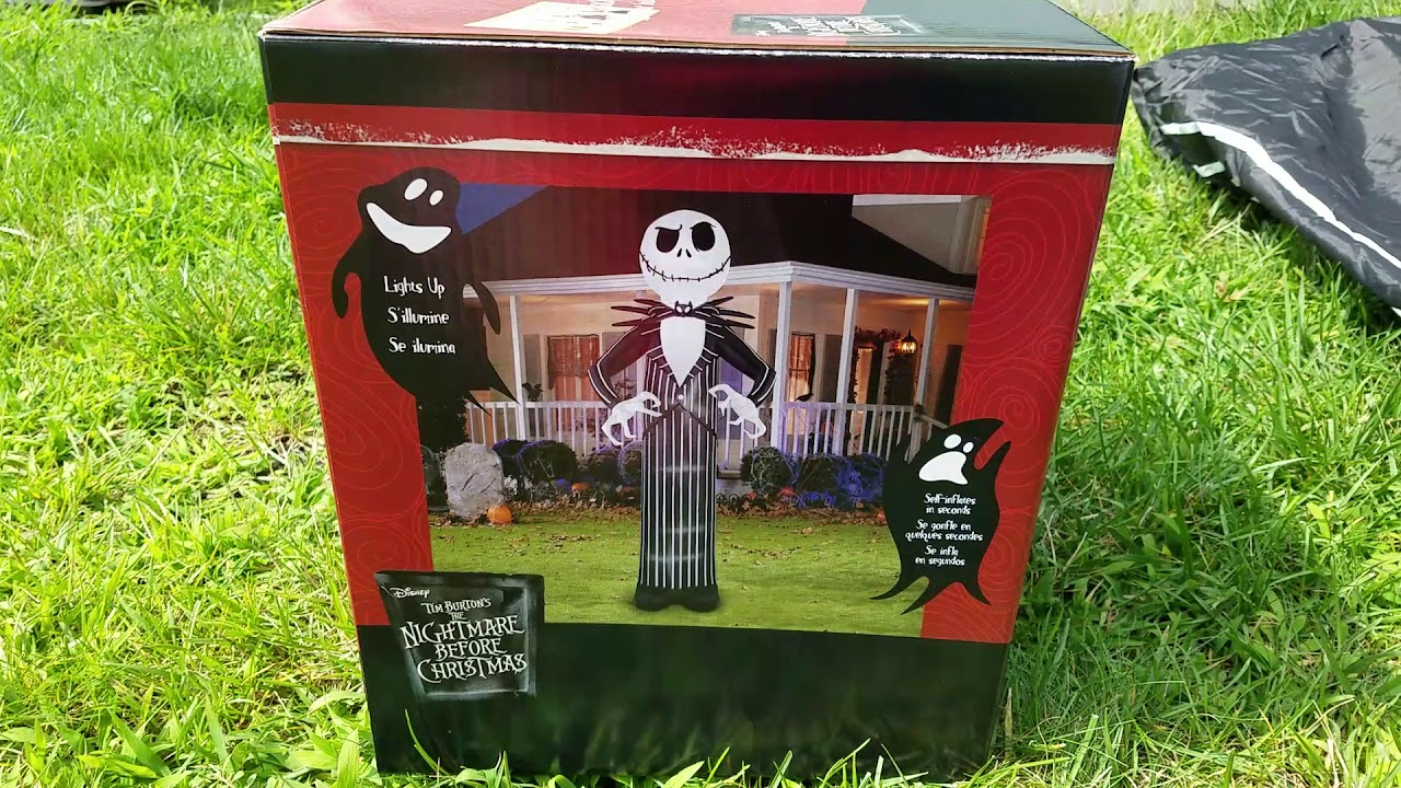 new for 2017 gemmy 2017 10ft airblown inflatable jack skellington - Nightmare Before Christmas Inflatable Lawn Decorations