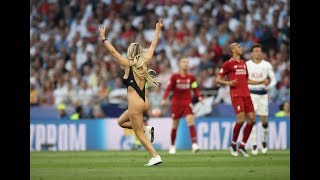 Liverpool Vs Tottenham 2-0 ⚽Hot Girl Invades Pitch During Champions League Final