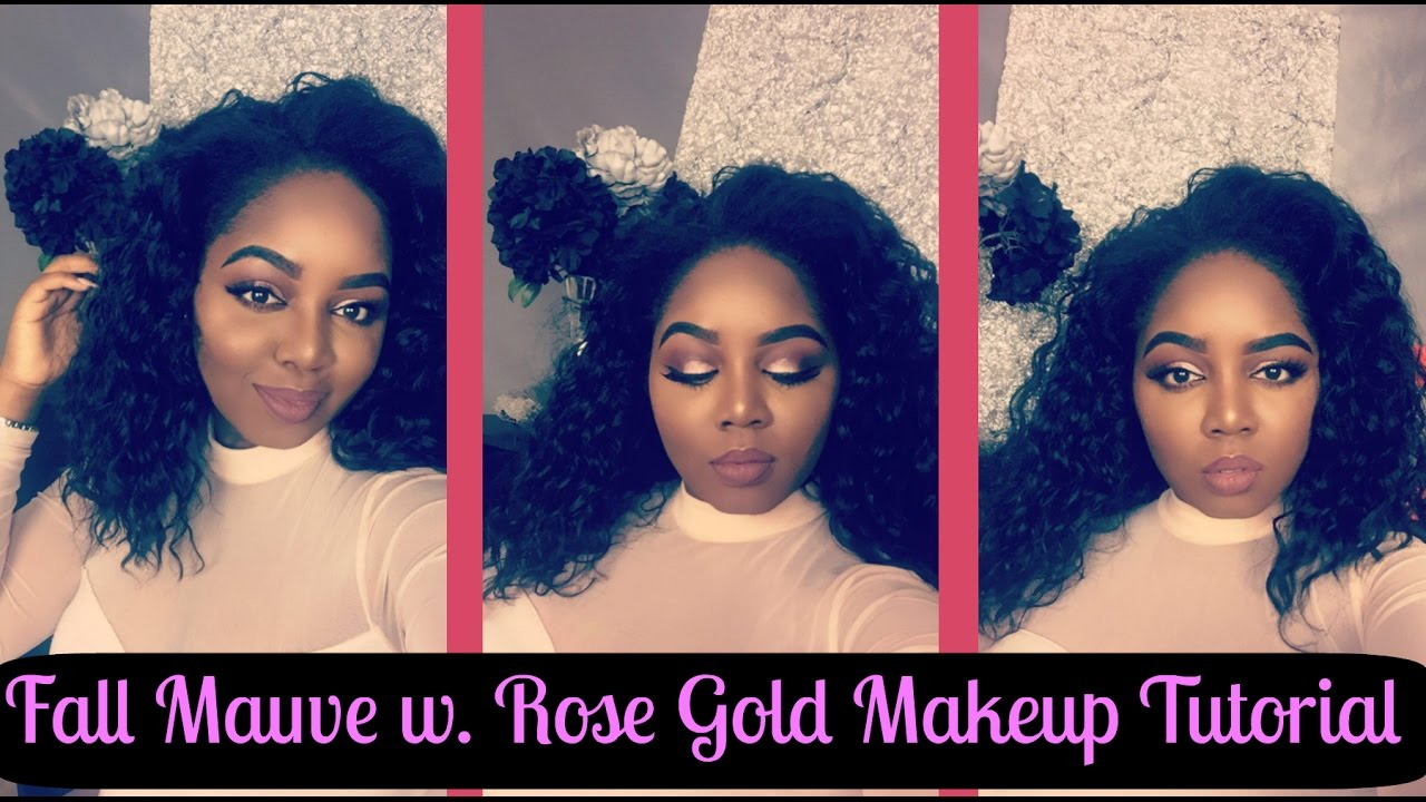 Fall Mauve with Rose Gold Tutorial
